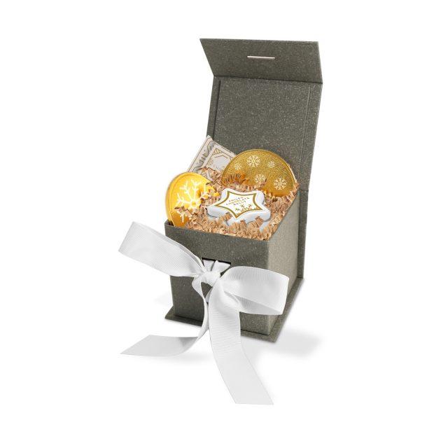 Mini Grey Gift Box – Grey Kraft