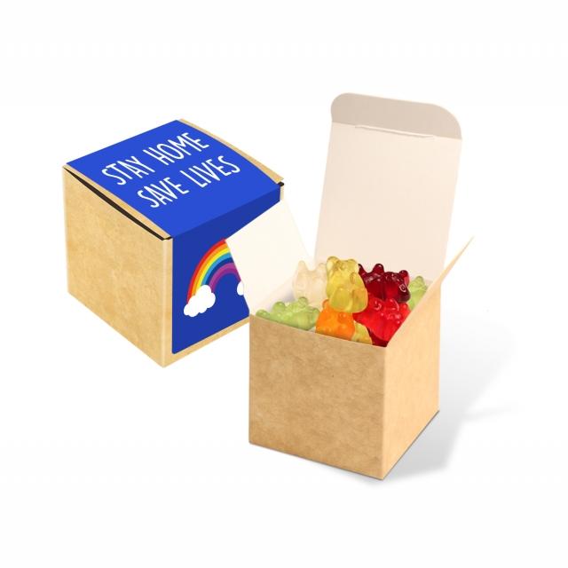 Eco Kraft Cube – Kalfany Vegan Bears – 40g